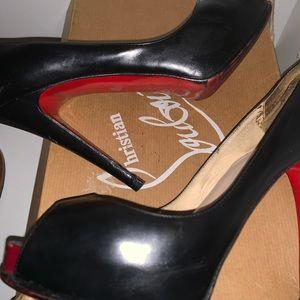 Christian Louboutin Shoes - Used Christian Louboutin peep toe shoes